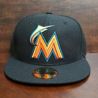 Miami Marlins New Era MLB Diamond Era 59Fifty On Field Fitted Cap NWT SZ 7 1/8
