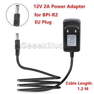 Banana Pi R2 BPI-R2 Official 12V 2A EU Plug Power Adapter Charger Power Supply