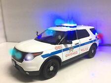 """""""CHICAGO PD"""" POLICE FORD PI SUV 1/18 Explorer WORKING LED LIGHTS 4 SIREN Ut RARE"""