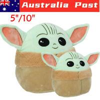 "Baby Yoda Plush Doll The Mandalorian Pillow Kids Toys Squishmallow Dolls 5"" /10"""