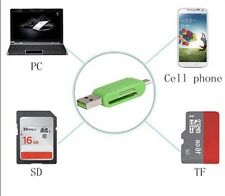 Universal Mobile Phone OTG Card Reader PC TF SD USB/Micro USB Card Reader