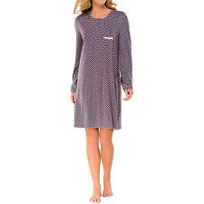 Schiesser Damen  Nachthemd Sleepshirt grau rose, 90 cm exklusiv