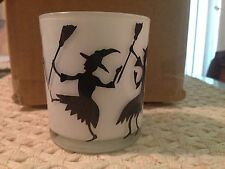 YANKEE CANDLE HALLOWEEN SILHOUETTE WITCHES VOTIVE HOLDER - NIB