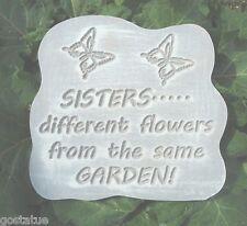 Plaster Concrete plaque plastic mold sister w butterflies plastic mold