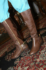 STEVE MADDEN REGGIEE TAN LEATHER BOOTS SIZE 8.5