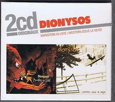 2 CD BOX (NEUF) DIONYSOS MONSTERS IN LOVE / WESTERN SOUS LA NEIGE