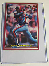 ANDRE DAWSON AUTOGRAPH LARGE BASEBALL CARD  5
