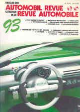 Automobile Revue 93 Berne SA Hallwag 1993 Automobile Book French German b1352