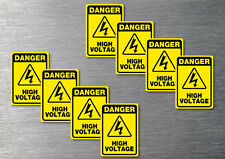 Danger High Voltage  stickers 8 pack quality 7 year water & fade proof vinyl