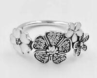 New Authentic Pandora Shimmering Bouquet Ring #190984CZ W/ Pandora TAG & BOX