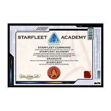 """Star Trek poster 24 x 36"""" Starfleet Academy Certificate"""