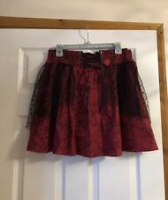 NEW LADIES HARRY POTTER RED / BLACK LACE SKIRT UK M HALLOWEEN WITCHES BNWT