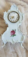 RARE LARGE Kaiser West Germany Bisque Porcelain Clock Roses Beautiful and Rare