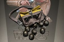 Brand New Finn Hot Toys 1/6 Awakens Star Wars Bomb Bag & Bombs Chewbacca