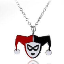 Collana con faccia di Harley Quinn Batman Joker SQUADRA suicida Maschera DC COMICS Diamond