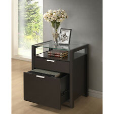 Filing Cabinet :: BROWN WENGE File Storage Cabinet or Modern Lamp Bedside Table