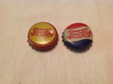 Two Different Pre 1950 Pepsi Cork Lined Bottle Caps