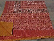 KING Beautiful Kantha King Size Quilts Throw Blanket Reversible Quilt 001