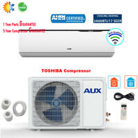 AUX 24000BTU Ductless Air Conditioner Heat Pump J-Smart MINI Split 230V 17SEER