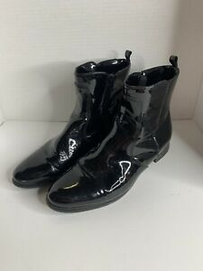 La Canadienne 33098 Black Shiny Glossy Ankle Boots Women's 9.5 M