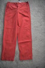 New Polo Ralph Lauren Premium Boyfriend Chino Trouser Pants Nantkt Red UK6