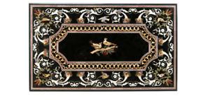"54"" x 32"" marble coffee Table Top semi precious stones work inlay Art handicraft"