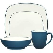 Noritake Colorwave Blue Square 32Pc Dinnerware Set, Service for 8