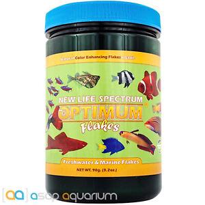 New Life Spectrum Optimum Flakes 90 grams Color Enhancing Fish Food with Garlic
