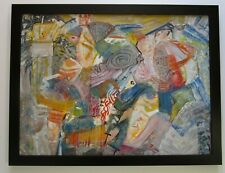MYSTERY ARTIST SIGNED  ABSTRACT EXPRESSIONIST PAINTING MODERNISM NEW YORK ART?