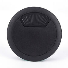 Two Color PC Computer Desk Table Plastic Grommet Cable Tidy Wire Hole Cover 3c Black 60mm