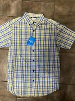 Columbia Men's Hiking Casual Trail Shirt Short Sleeve Plaid. Size Small $45