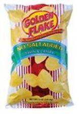 Golden Flake No Salt Added Potato Chips 5oz Bag (4 Packs)