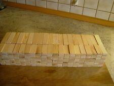 400 Holzbausteine aus einheimischen Kiefernholz 24 x 8 mm in zwei Längen