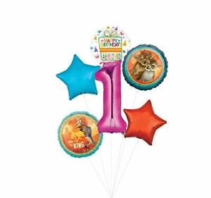 Lion King Party Supplies 1st Birthday Balloon Bouquet Decorations - Pink Numb...