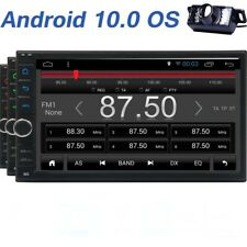 Android 10 Double 2Din 7'' Car GPS Stereo Radio Player 4G BT WIFI USB SD+Camera
