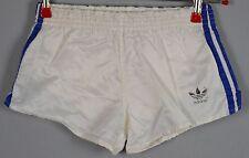 ADIDAS Glanz Nylon Shorts !!!  Vintage Short Sporthose Weiß-Gr.:S-3 (76)