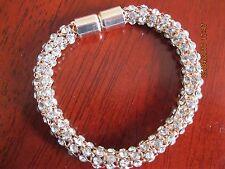 Elements of Swarovski Mesh Bracelet, Rose Gold Coloured - Lovely Gift