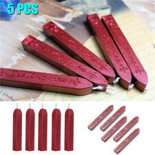 5pcs Wine Red Manuscript Sealing Seal Wax Sticks Wicks Cord For Postage Letter