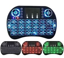 Mini 2.4GHz LED Backlight USB 2.0 Wireless Keyboard, Remote & Touchpad Air Mouse