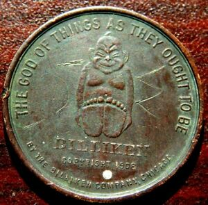 1908 BILLIKEN THE GOD OF THINGS AS THEY OUGHT TO BE GOOD LUCK POCKET PIECE L@@K