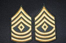 US Army Dress Class A Uniform Green First Sergeant E-8 Rank Stripes Patch 1 pair