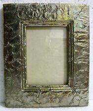 Vintage Handcrafted Wooden Metal Fitted Picture Photo Frame Decorative Art