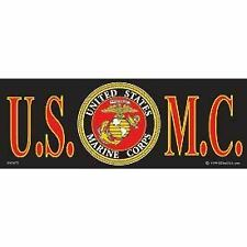 "United States Marine Corps USMC Bumper Sticker 3.25x9"" Black Logo Emblem Decal"