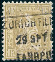 SCHWEIZ 1881, MiNr. 44, sauber gestempelt, Attest Hermann, Mi. 1100,-