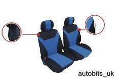 Bleu-Noir Tissu Siège avant HOUSSES pour Fiat Fiorino Scudo Ducato Iveco Daily