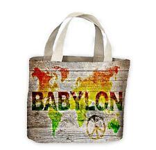 Reggae World Map Tote Shopping Bag For Life - Rasta Bob Marley