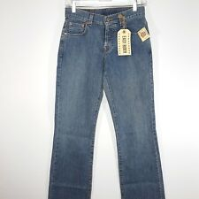 NWT Lucky Brand Easy Rider Jeans Sz 0 25 Long Button Fly Boot Cut Relaxed Fit