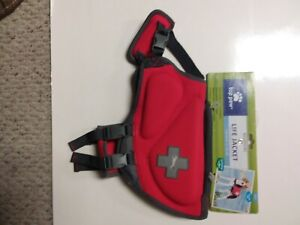 Top Paw Red Life Jacket (Size small Dogs 15zlbs) New