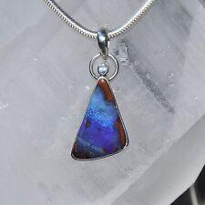 Opal Anhänger, 925er Silber, Edelsteinanhänger (10725), Boulder Opal