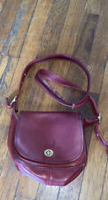 Coach legacy small vintage red leather purse bag